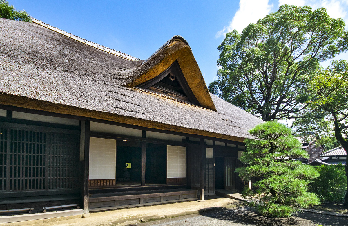 House in Japan with thatched roof