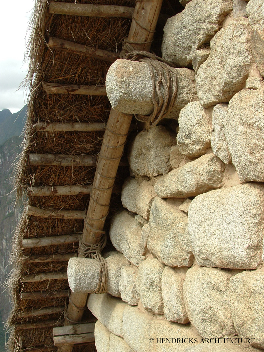 Inca thatch with lashing