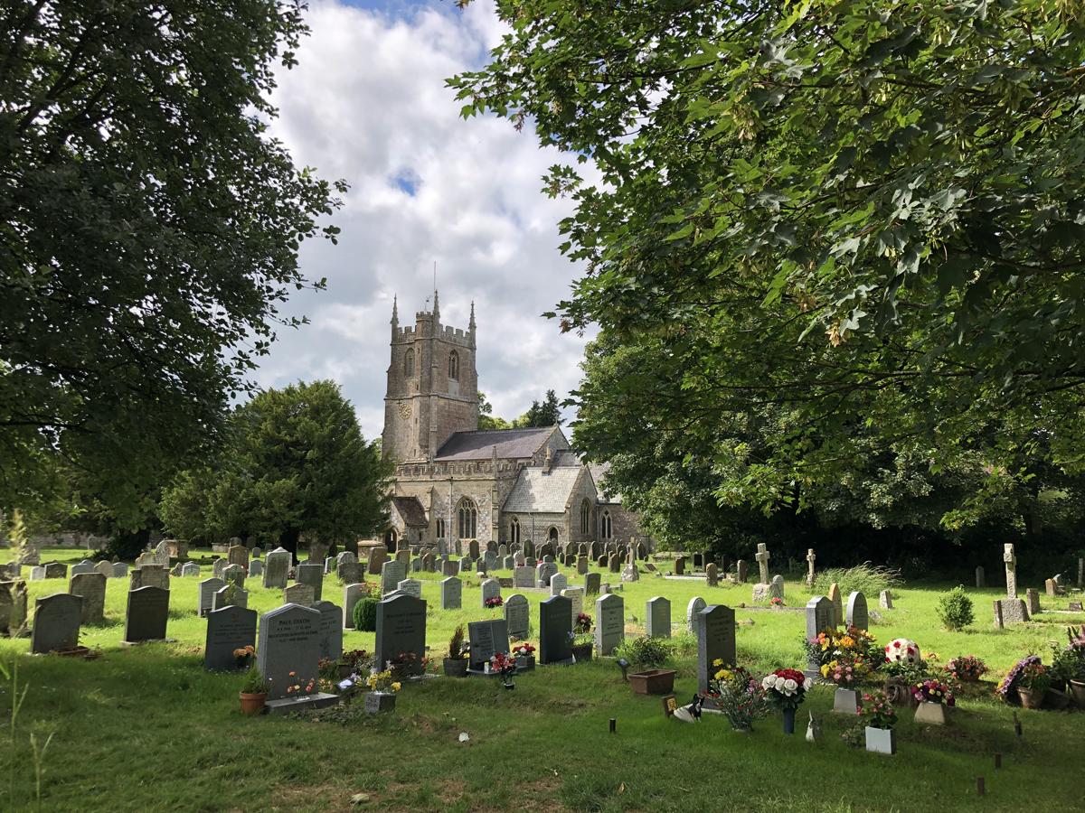 Old World St James Church in Avebury Village