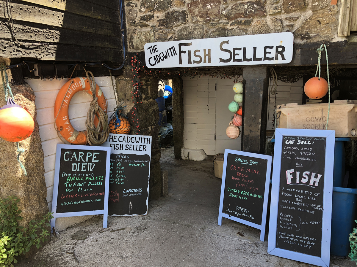Cadgwith Village FIsh Seller Shop in Cornwall