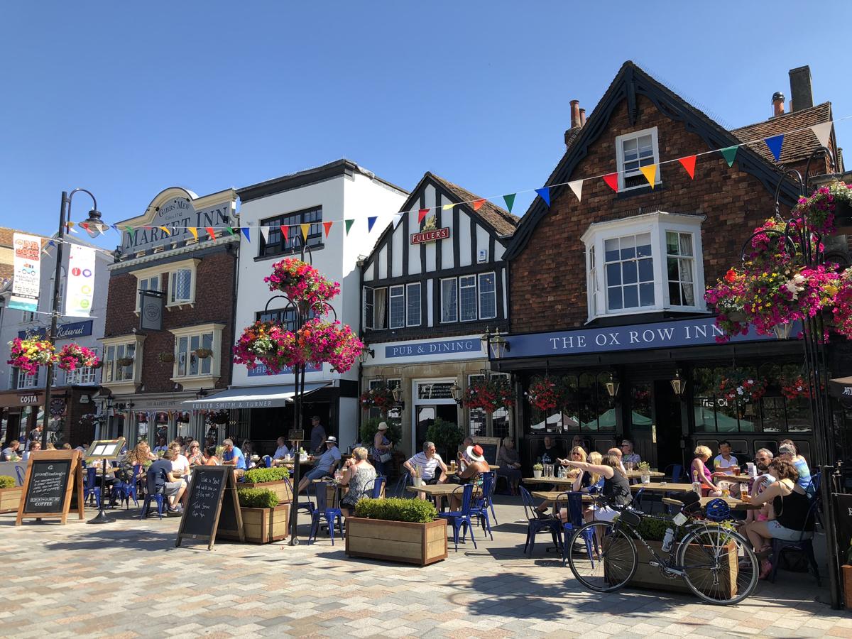 Market square in Old World Salisbury Village