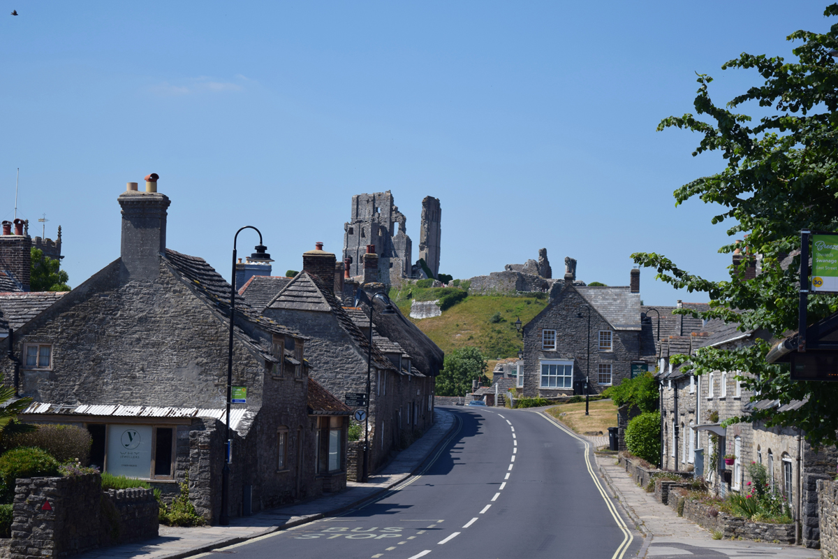 Corfe Castle is an old world village