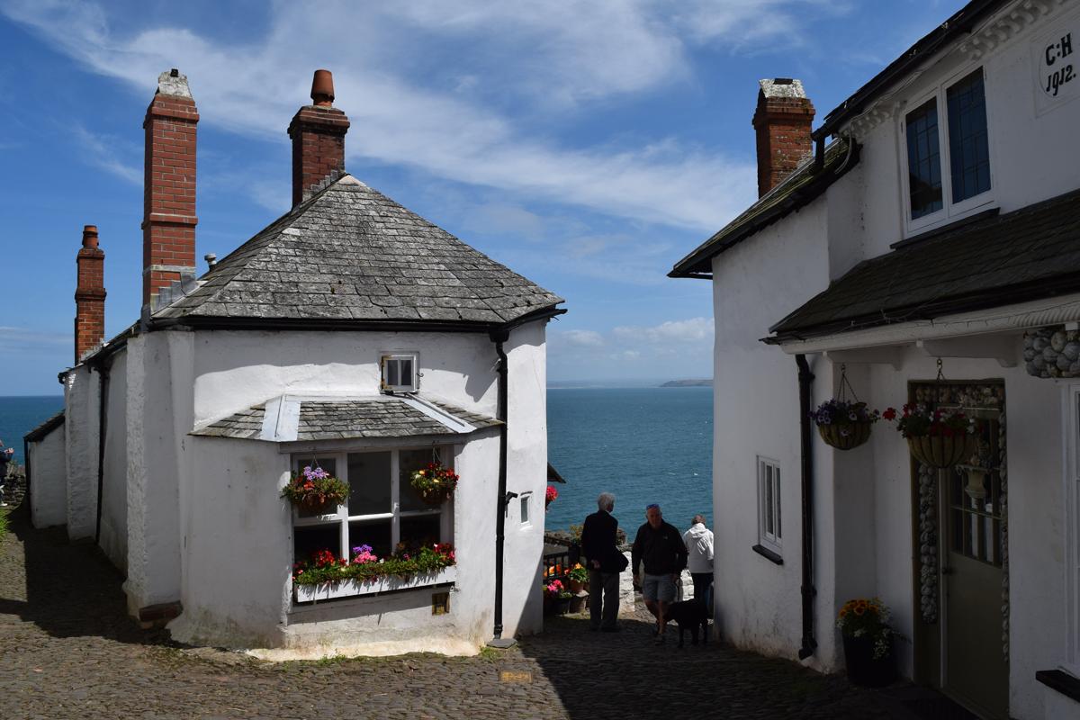 Cottages in Clovelly Village Devon England