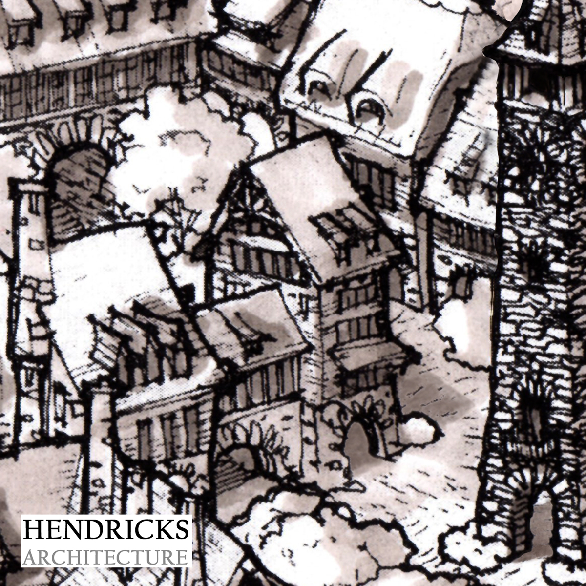 Old world medieval mountain village inn
