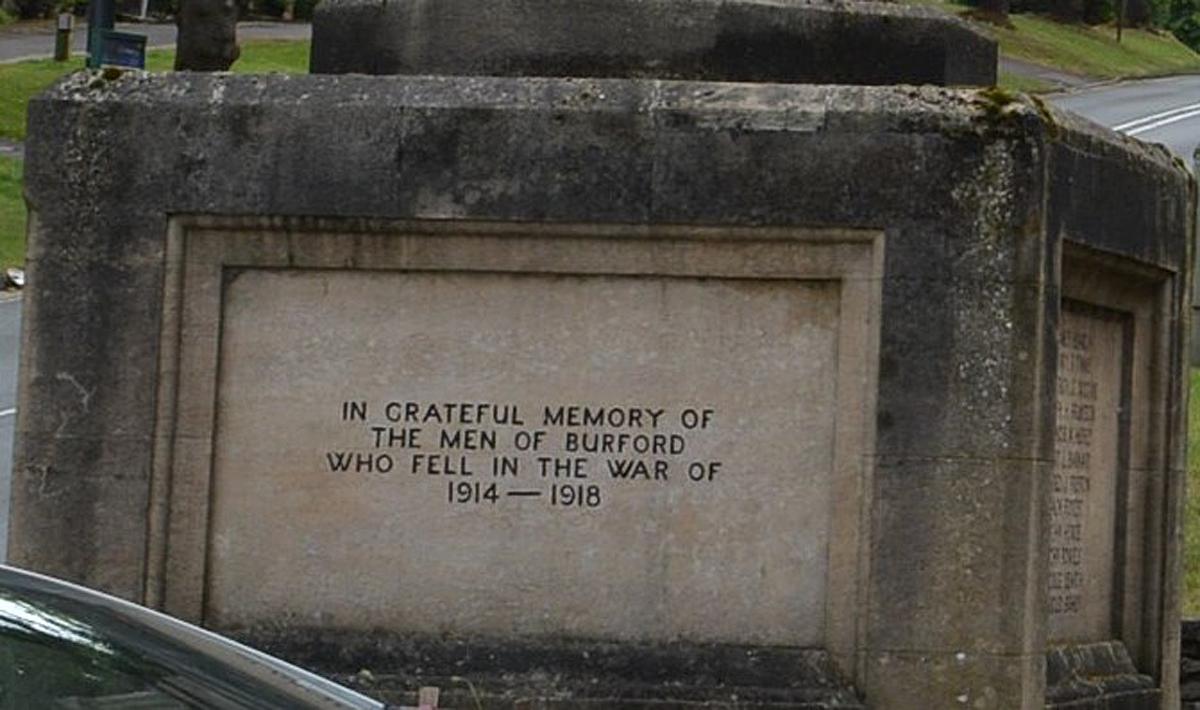 World War One Memorial Burford Village