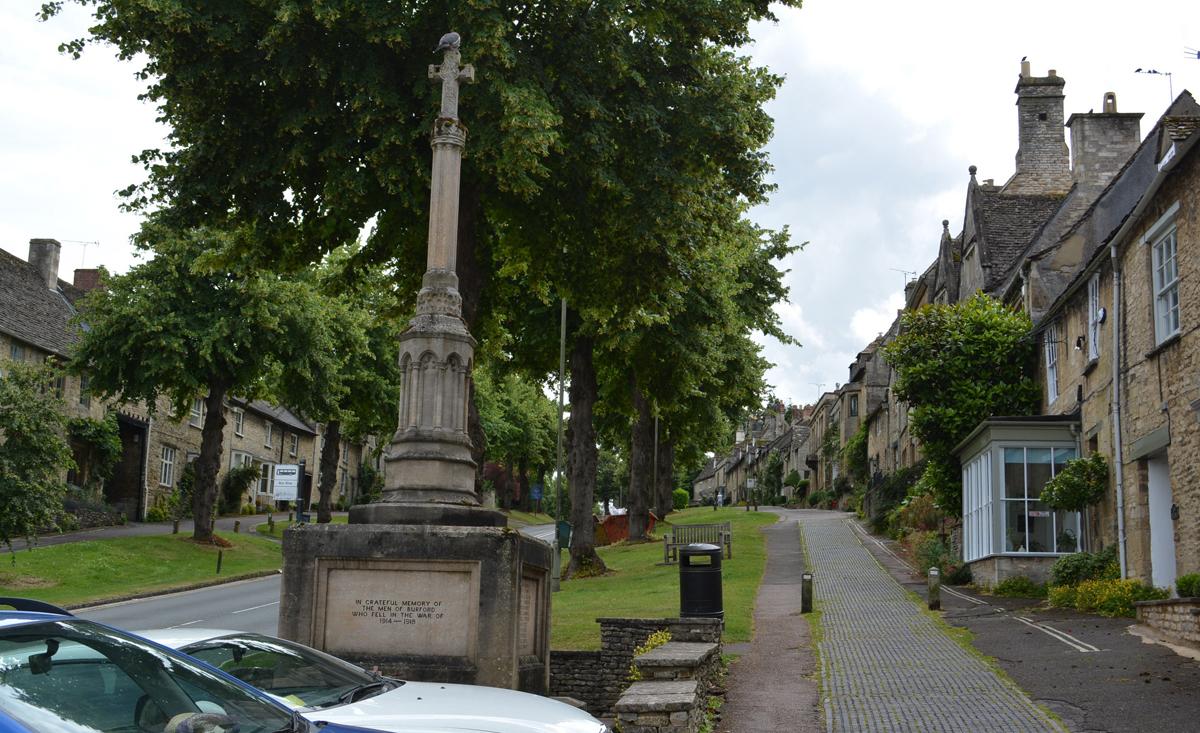War Memorial in Old World Burford Village
