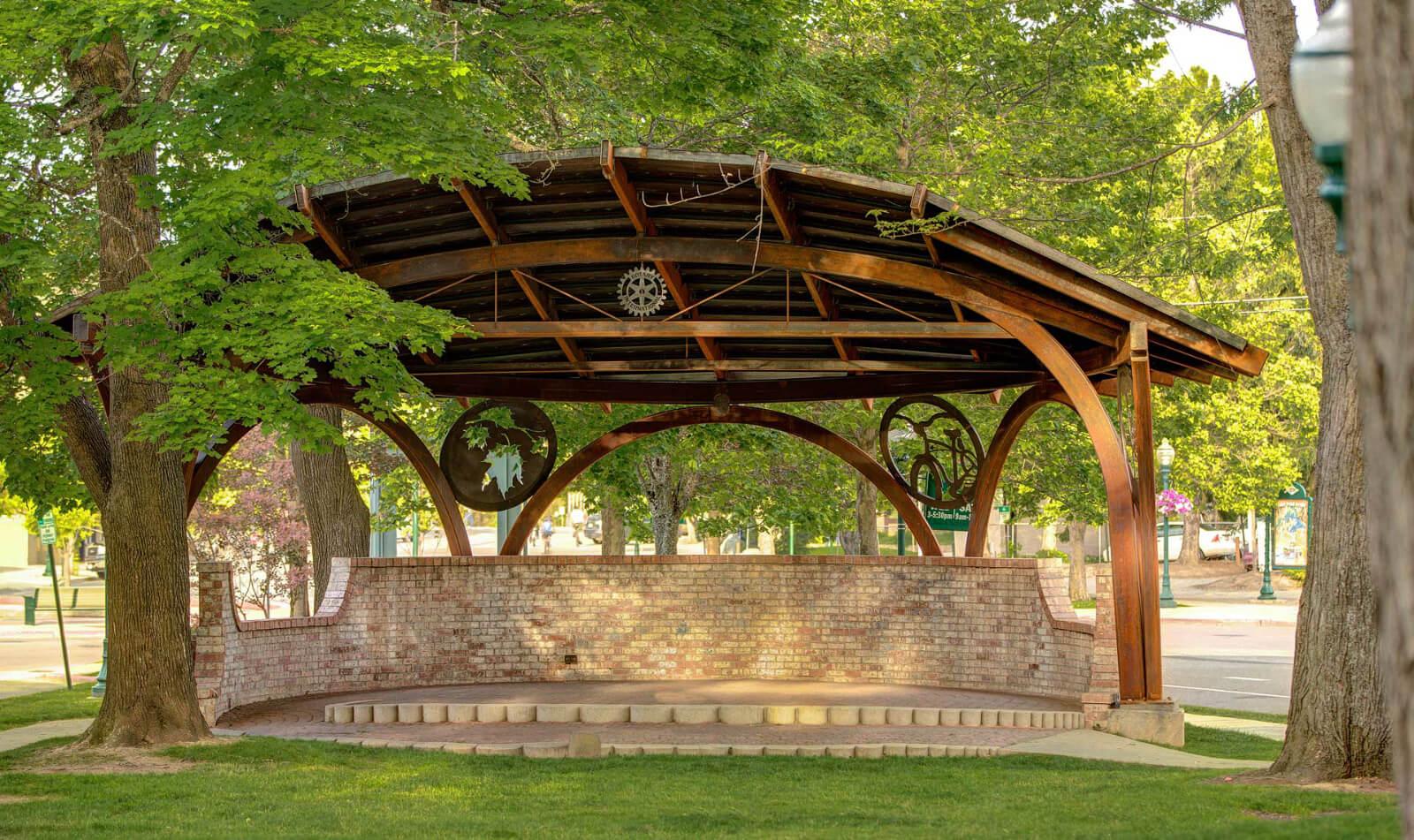 A Whimsical Steel Bandshell for Sandpoint's Farmin Park