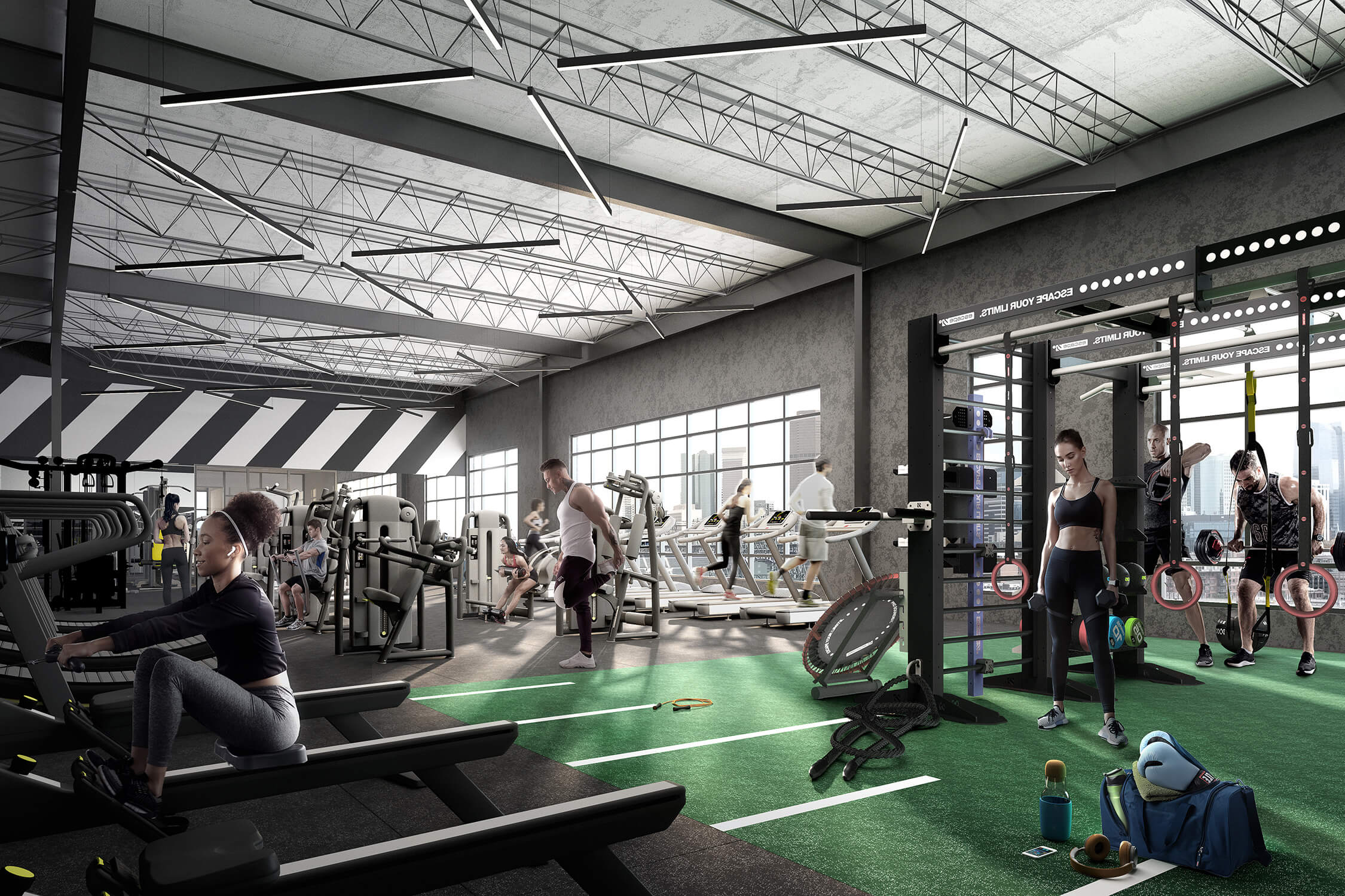 Apartment building fitness center that can replace your Equinox membership