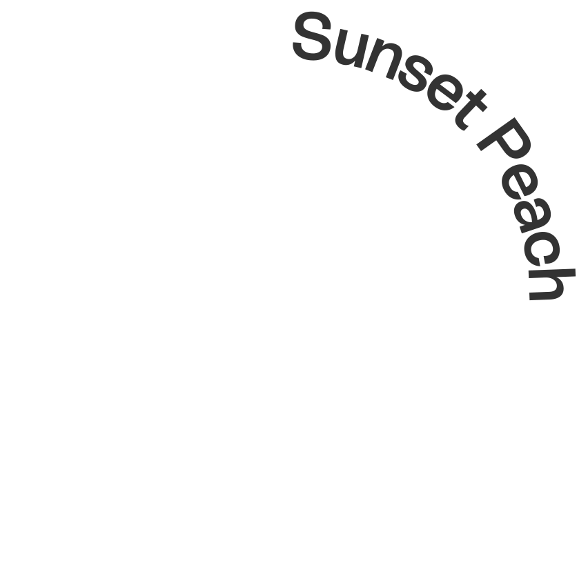 Text that says Sunset Peach