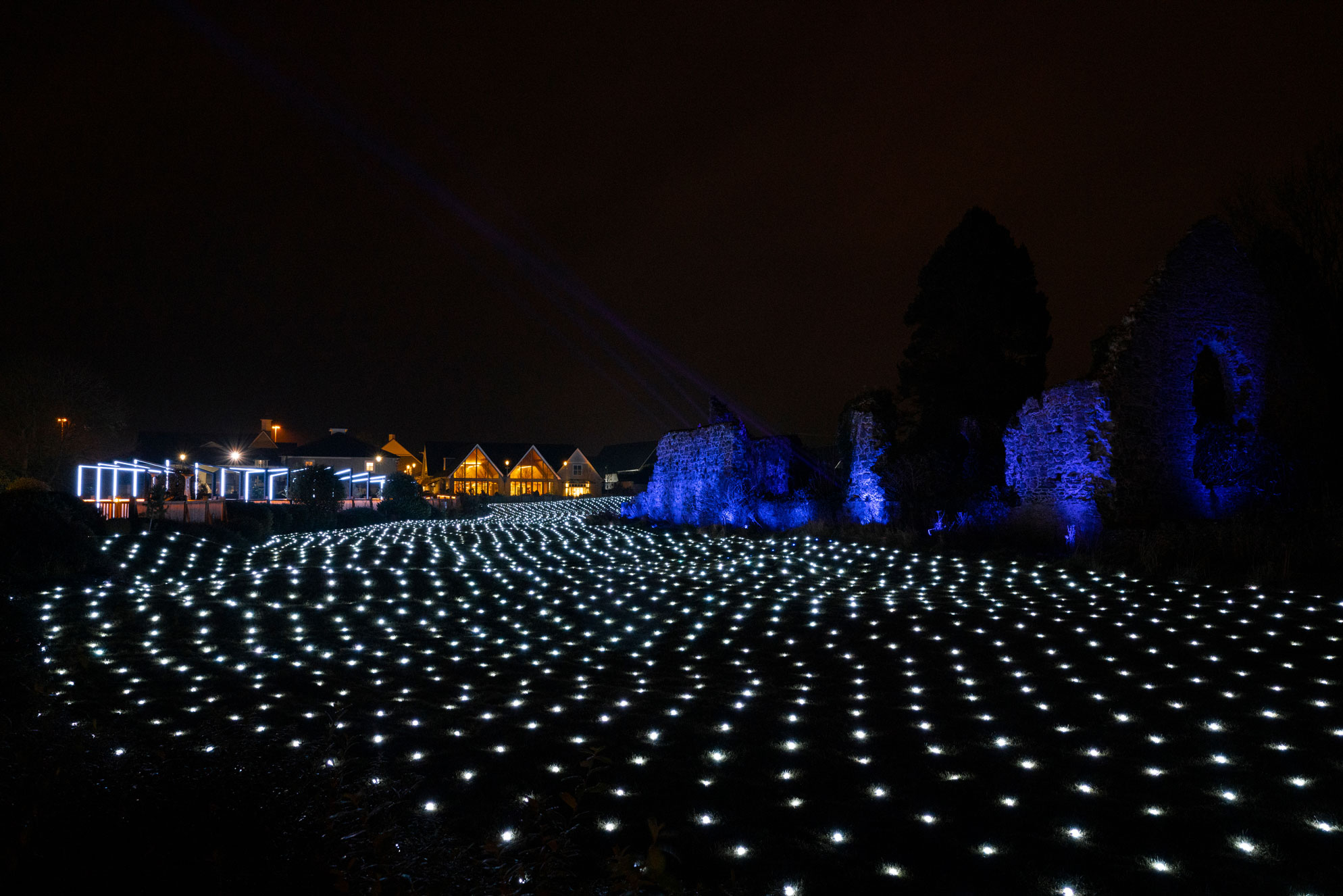 The field of light at Kildare Village