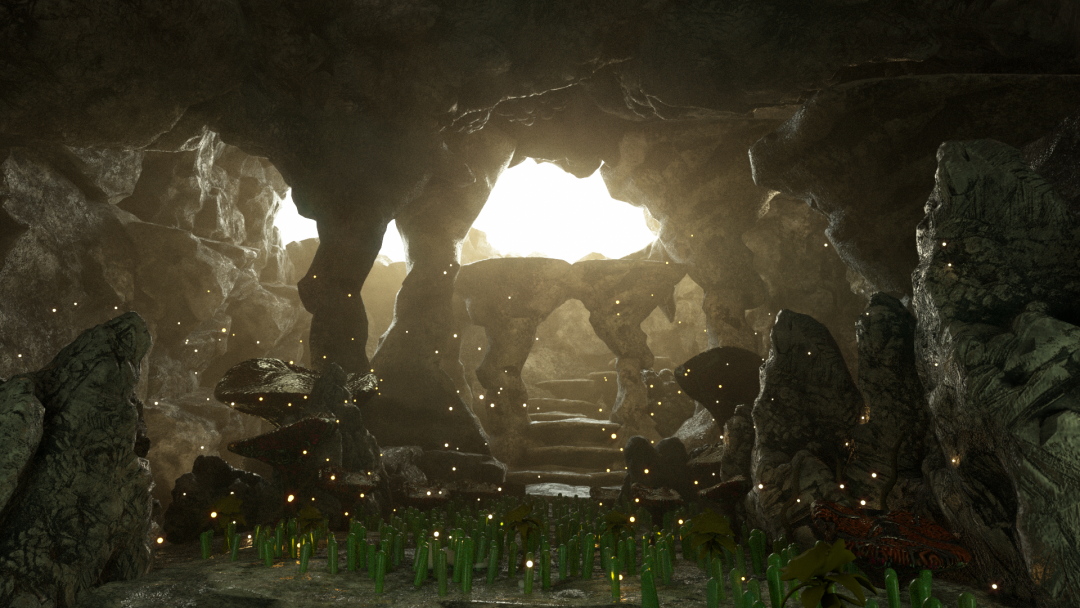 Render of a cave scene