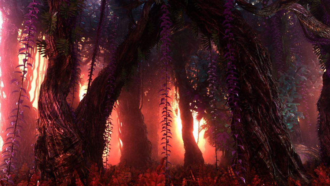 Render of forest scene