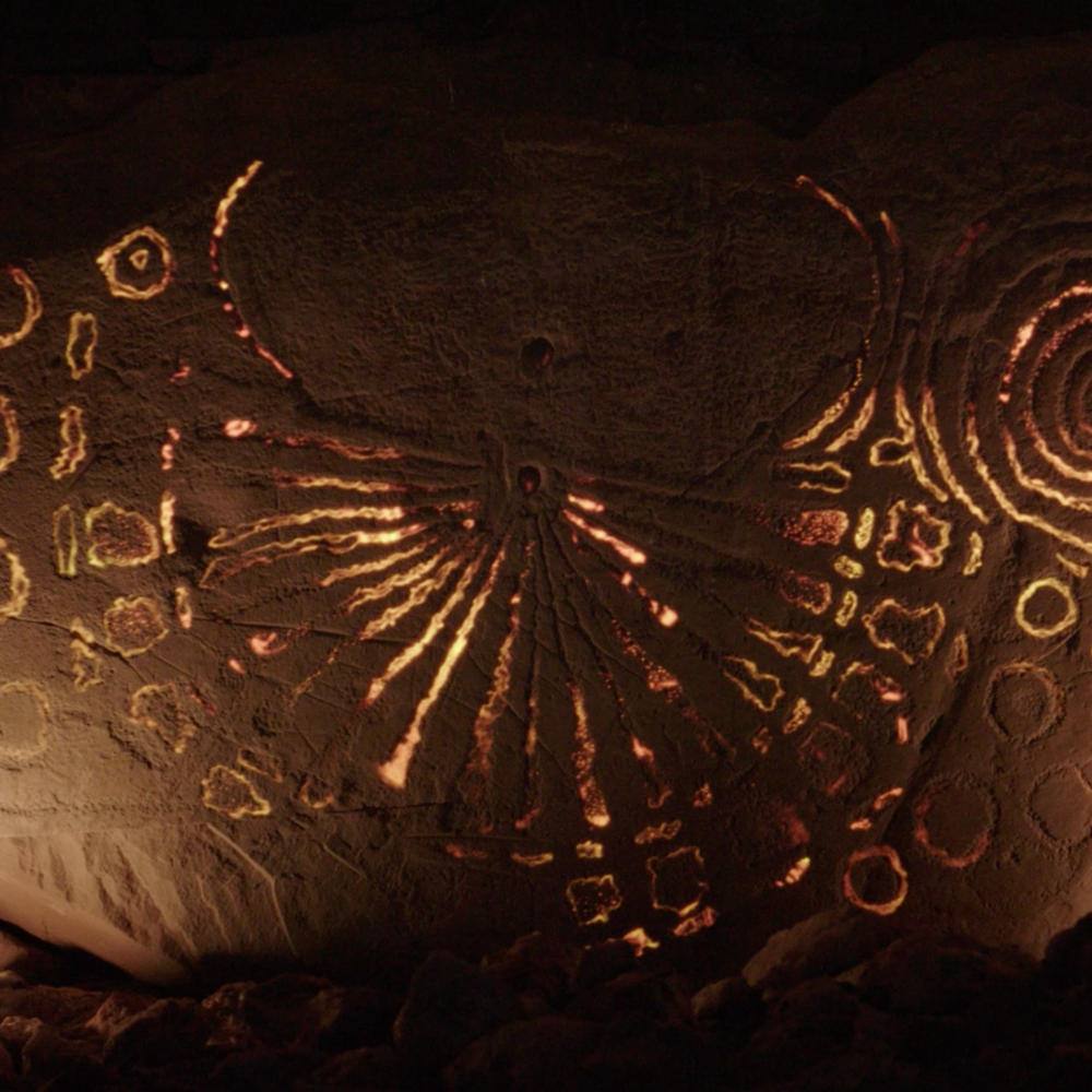 Projection Mapping the stone at knowth