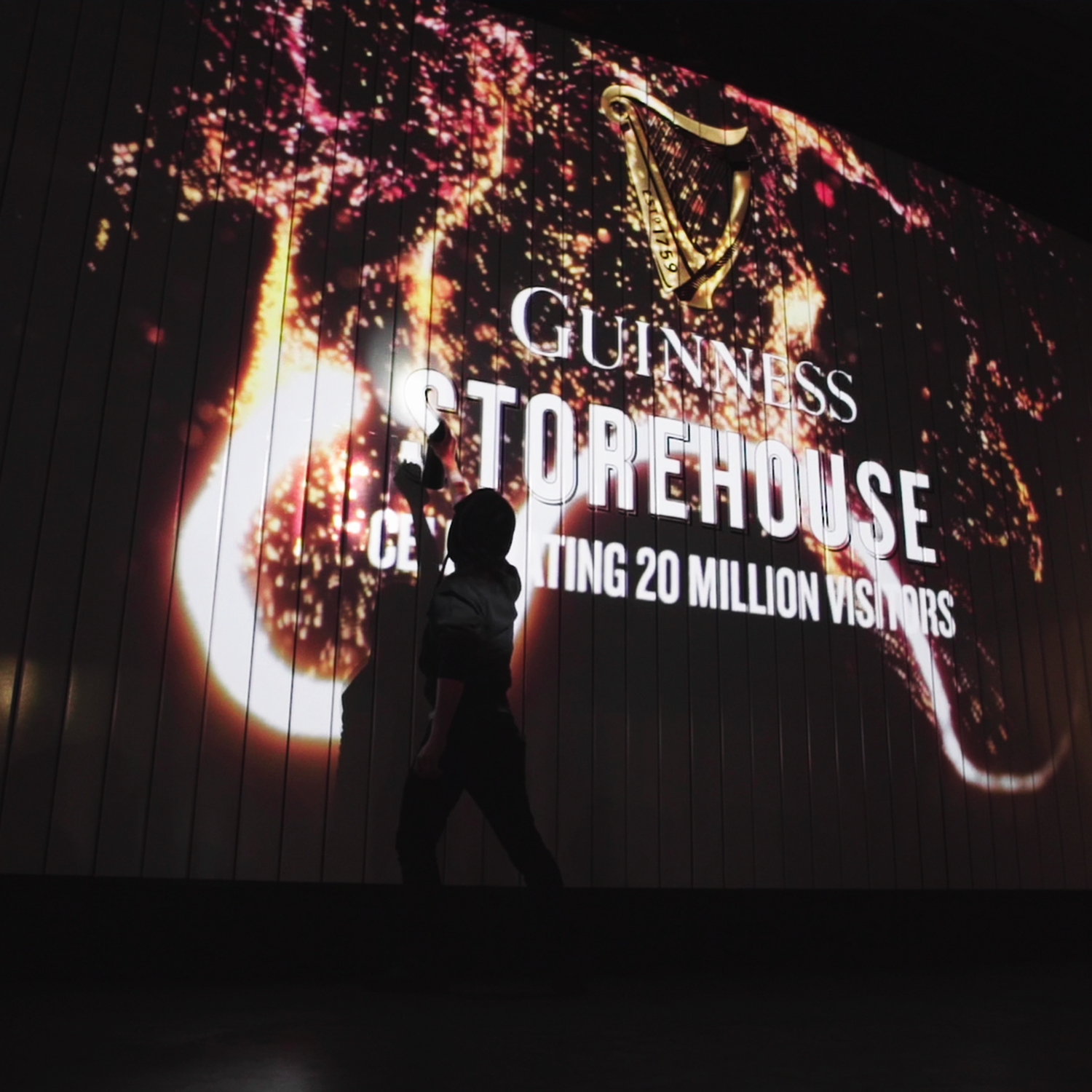 Interactive Spray can at Guinness After Dark