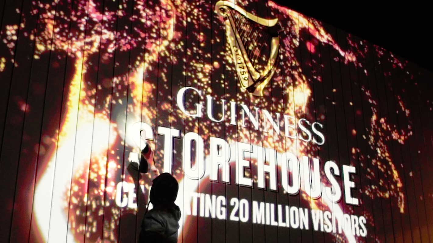 Guinness After Dark Interactive wall