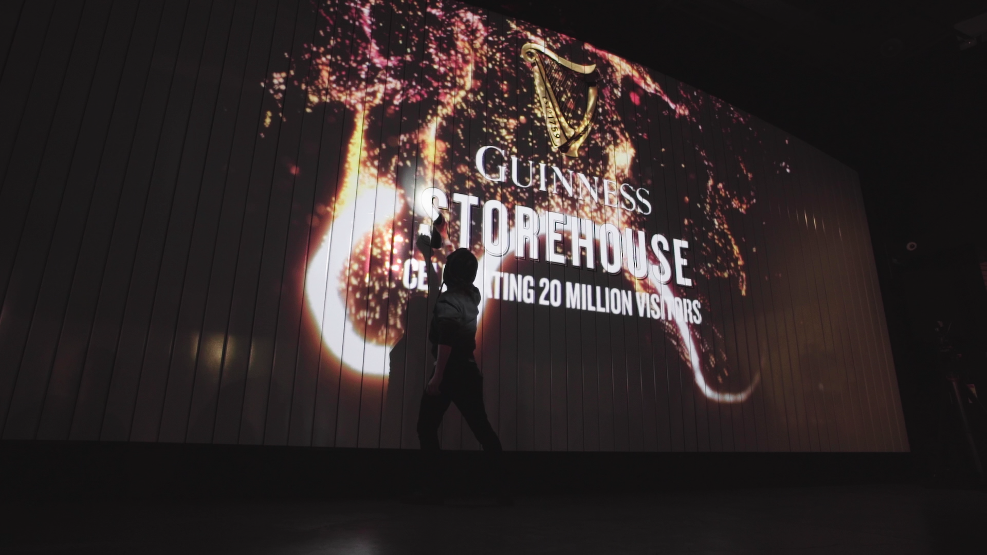 Guinness After Dark Interactive spray paint wall