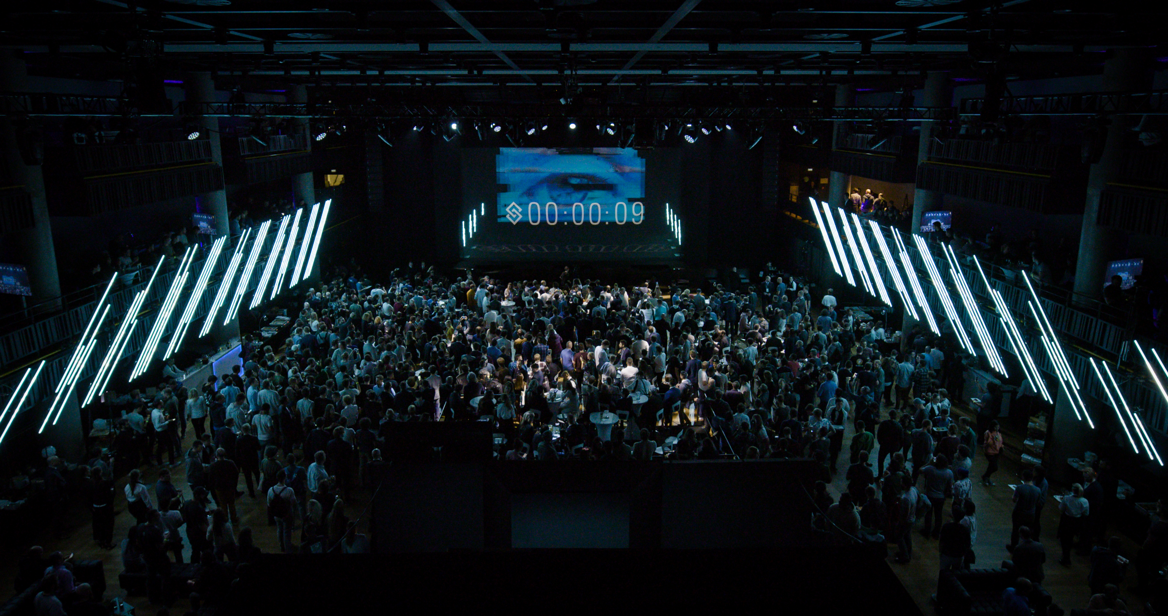A shot of the crowd during the Blockchains LLC launch