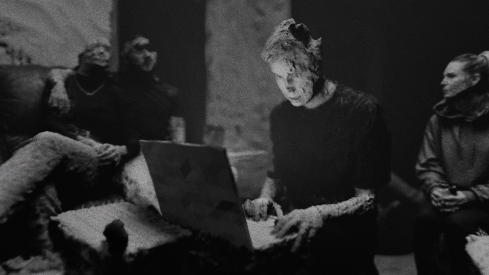 A LiDAR scanned image from the music video