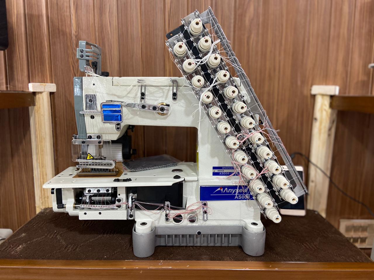 Anysew 8 Needle Elastic Machine Belt Drive