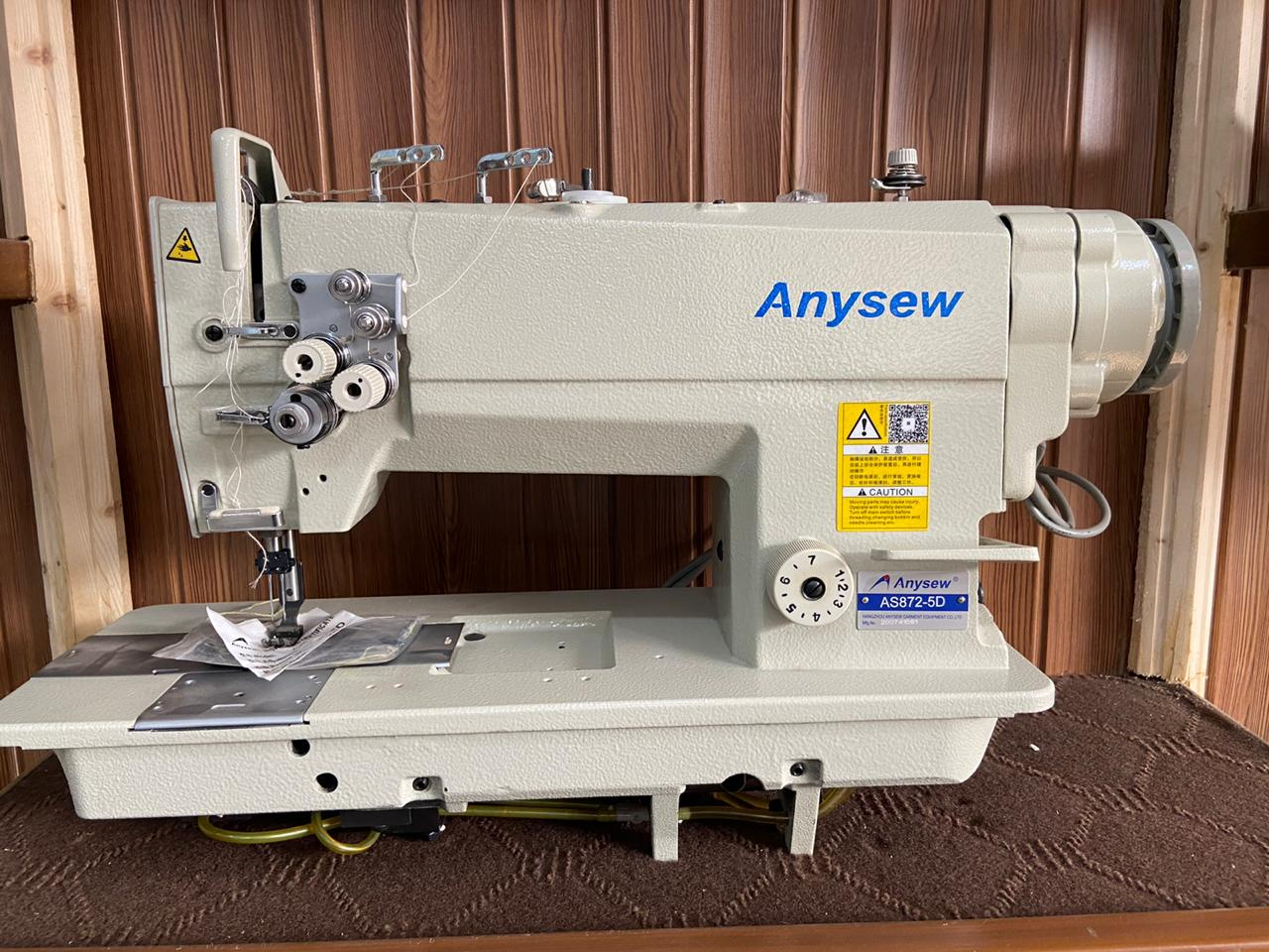 Anysew Fixed Bar Direct Drive Double Needle AS-872-5D