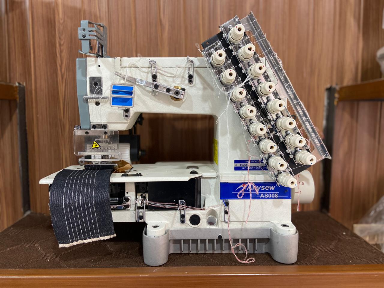 Anysew 6 Needle Elastic Machine Belt Drive