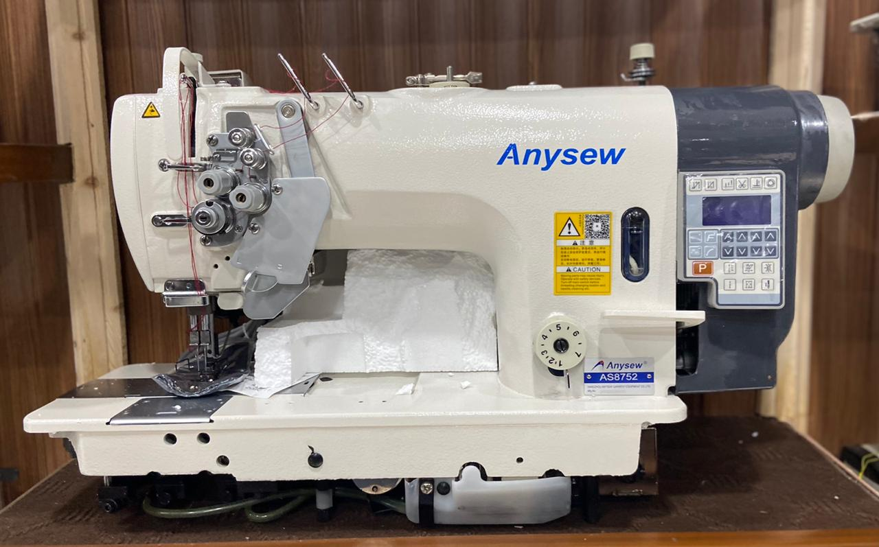Anysew Split Bar Full Auto Big Shuttle Double Needle AS-8752