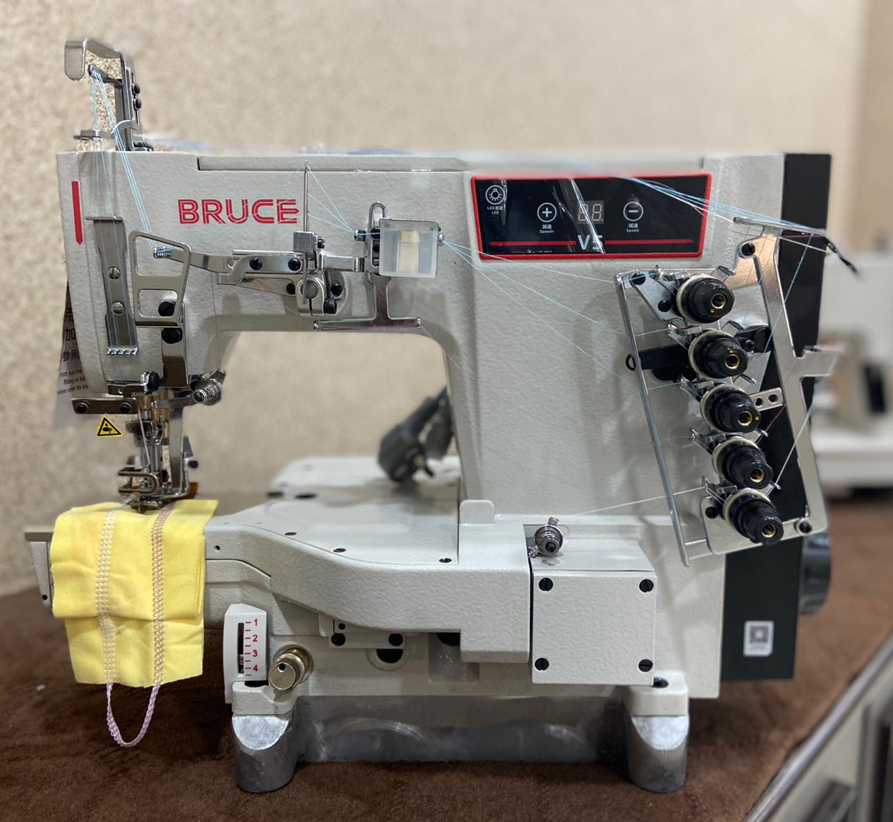 Bruce V5 Cylinder Bed Interlock With Left Edge Cutter Direct Drive
