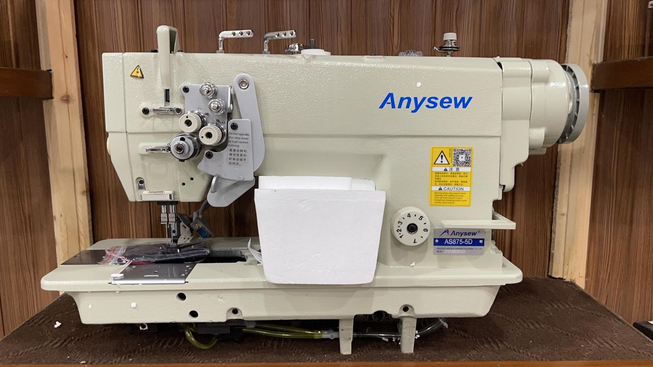 Anysew Double Needle Split Bar AS-875-5D Direct Drive