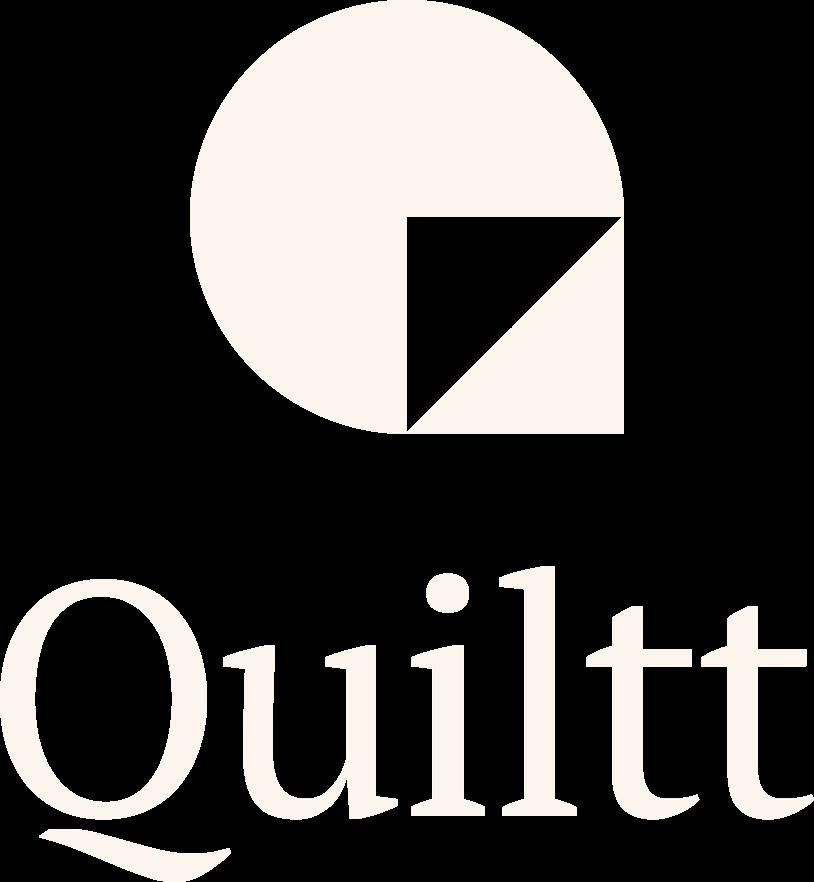 Quiltt logo, reversed colors