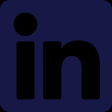 Blue LinkedIn icon