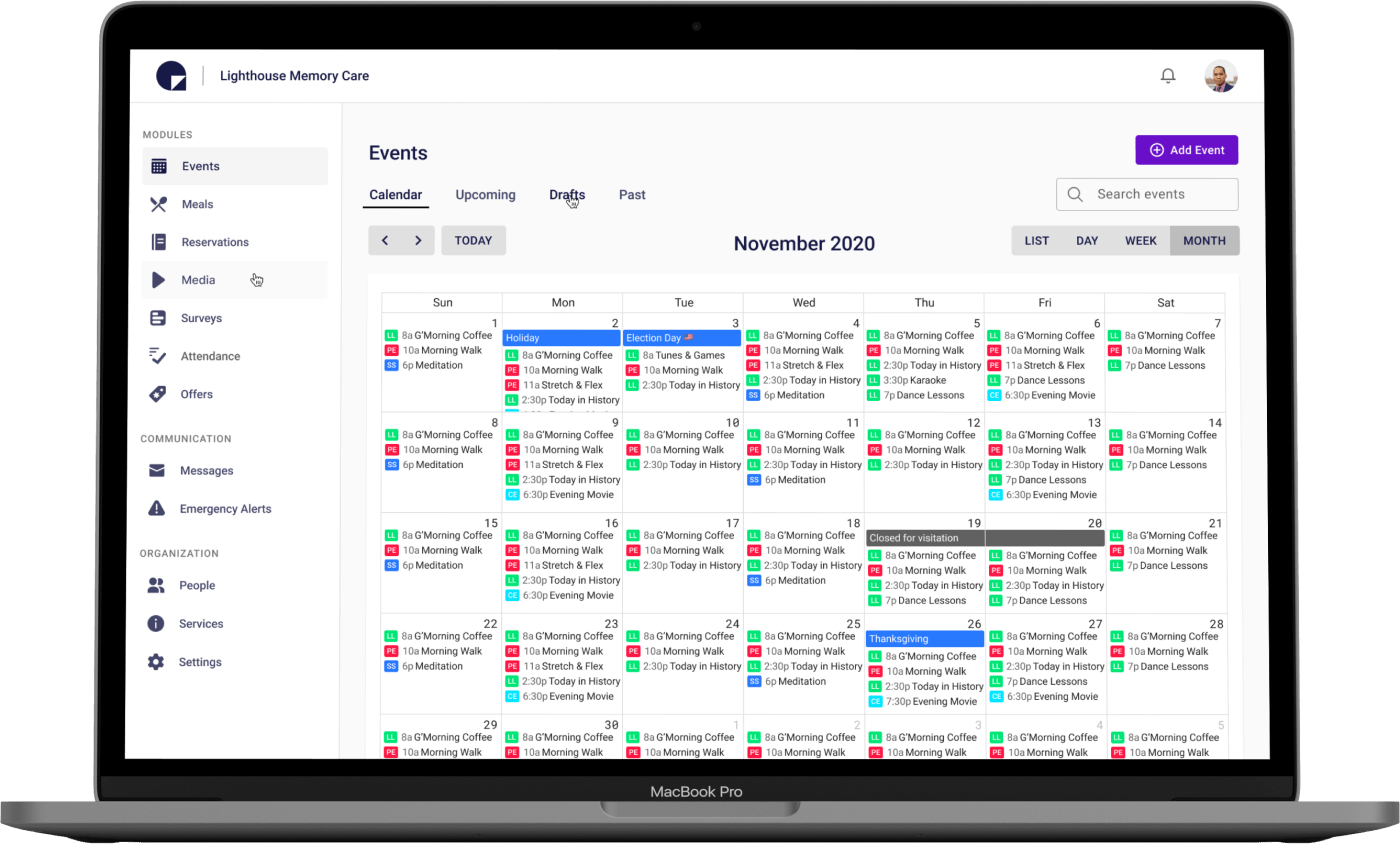 Admin portal to control all the information across the Quiltt platform