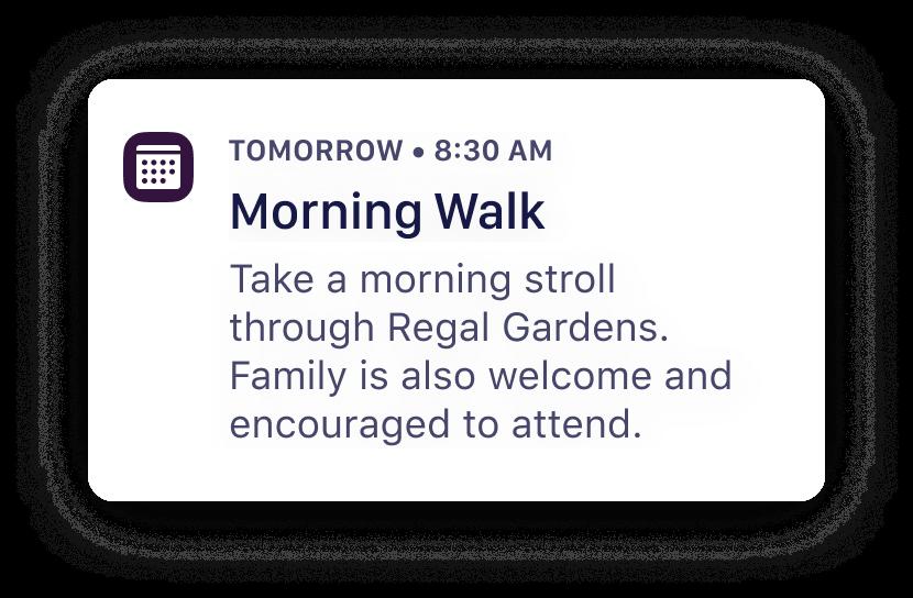 Quiltt - Upcoming Activity - Morning Walk