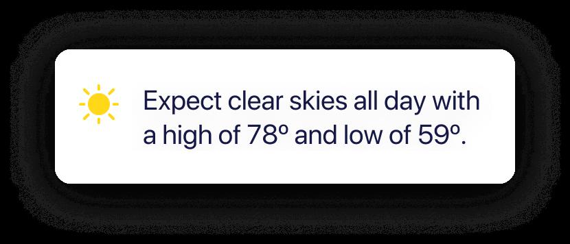 Quiltt - Weather forecast