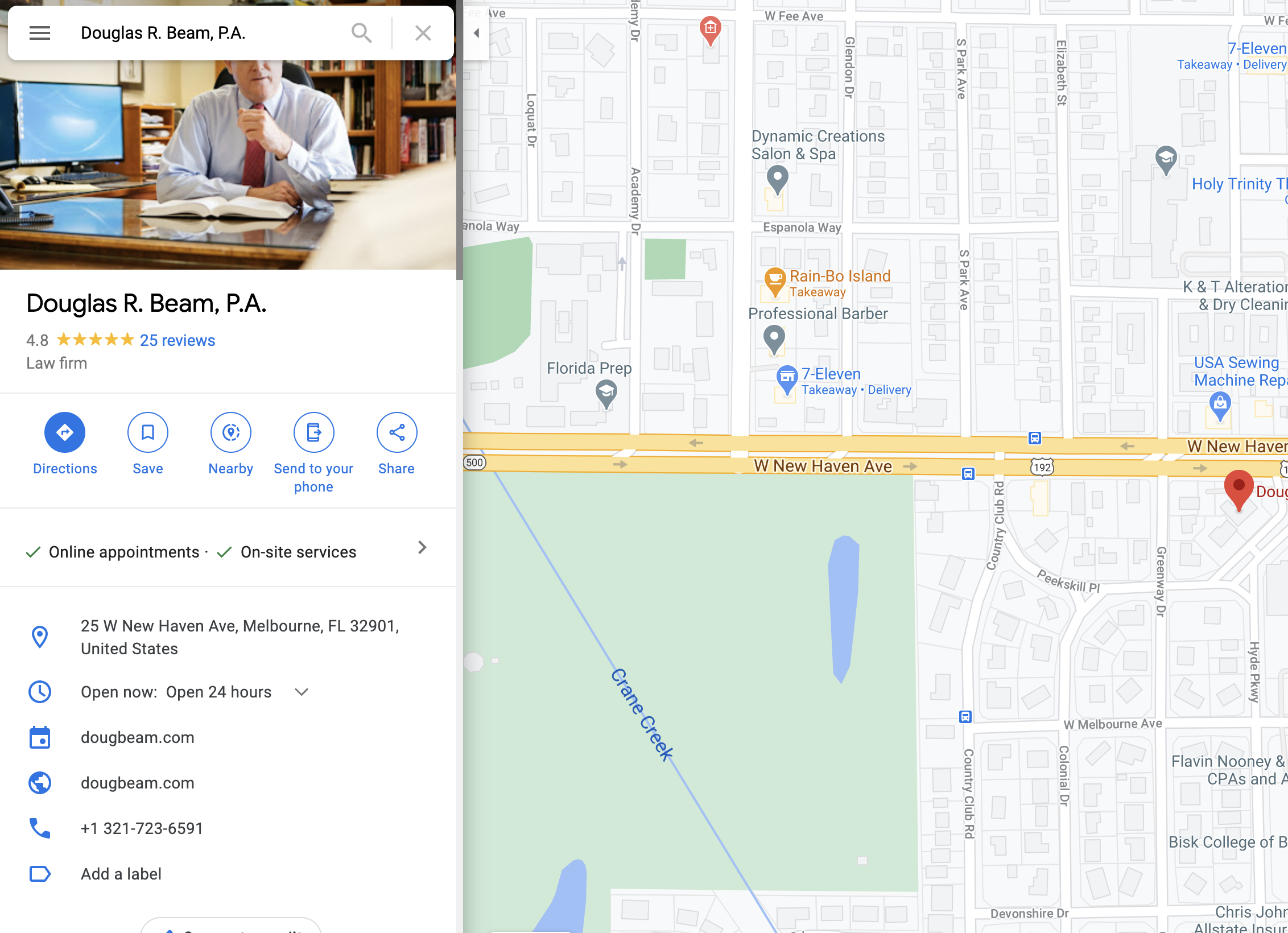 An image of Douglas R. Beam's Law Firm on Google My Business