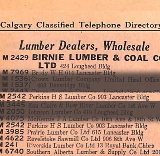 Phonebook 1920 Calgary