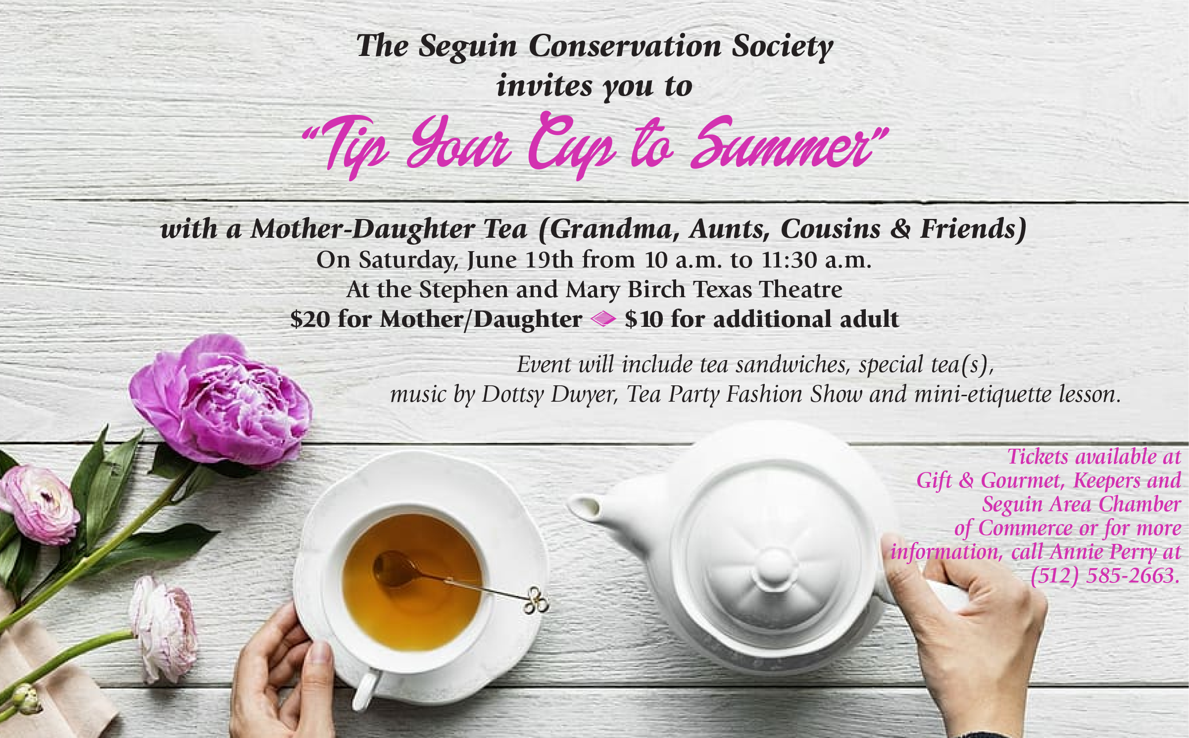 A poster for the Tip Your Cap to Summer event.