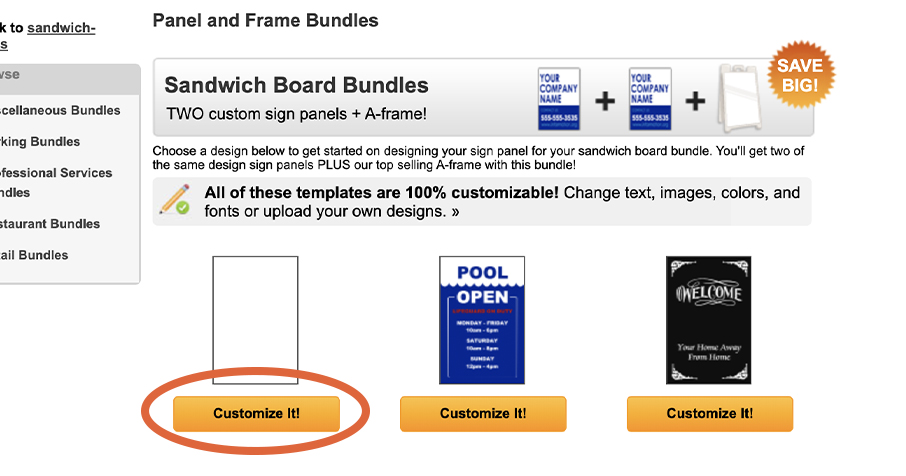 Build a Sign page section to customize sign