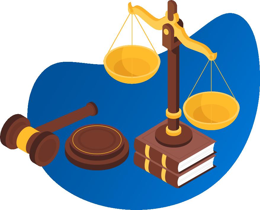 Illustration of elements symbolizing legal requirements