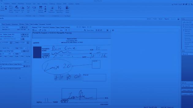 Demo screen of software