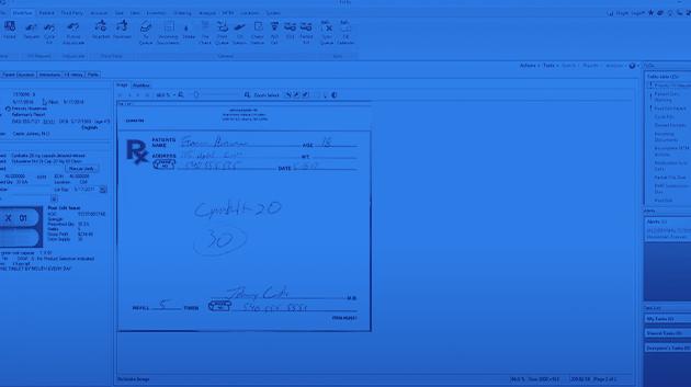 Demo software screen