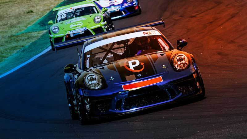 Image of two cars racing