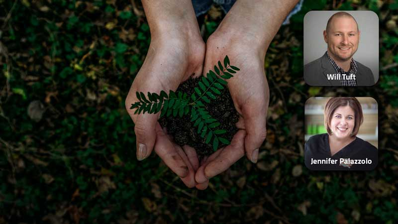Image of person holding a plant