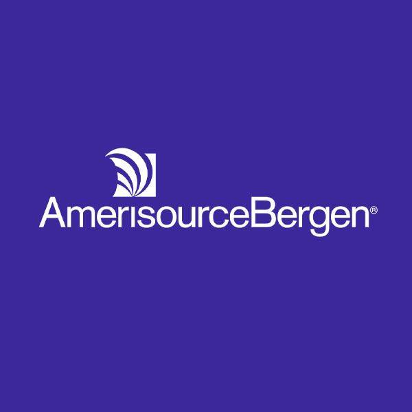 Image of AmerisourceBergen logo with dark blue background