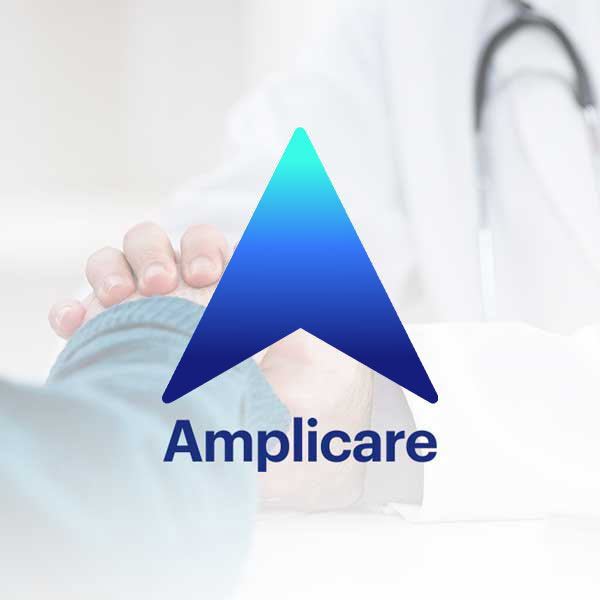 Image of Amplicare logo with white background