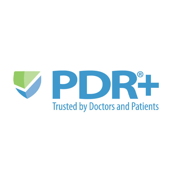 Image of PDR by ConnectiveRx logo with white background