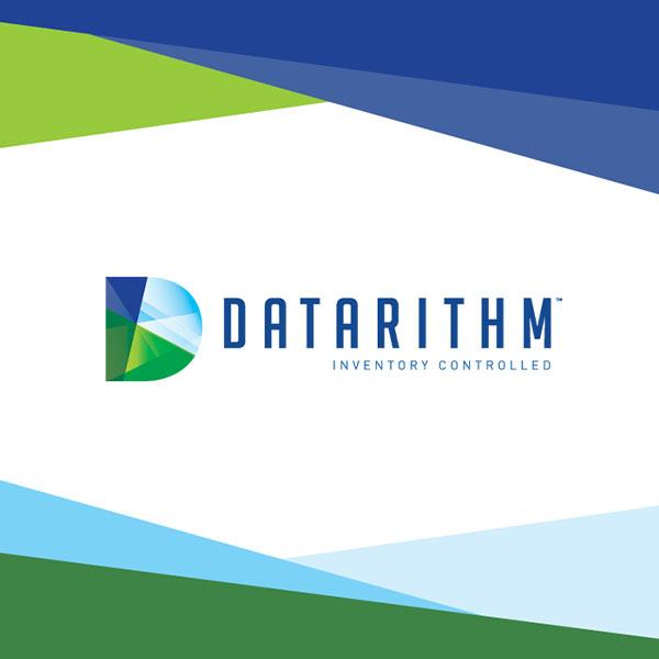 Image of Datarithm logo with white background
