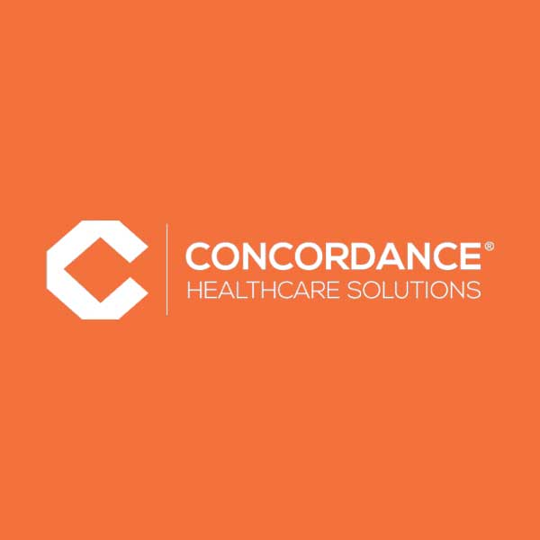 Image of Concordance Health Solutions, Inc. logo with orange background