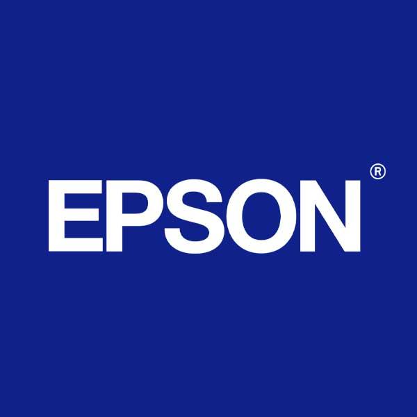 Image of Epson logo with blue background