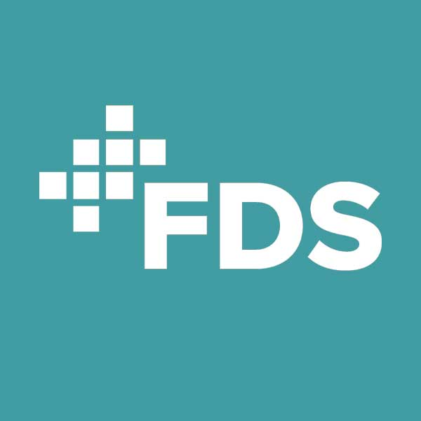 Image of FDS logo with blue background