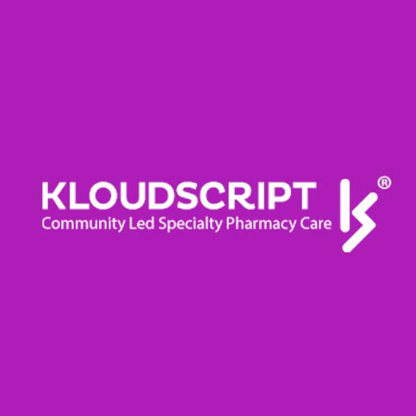 Image of KloudScript, Inc logo with pink background